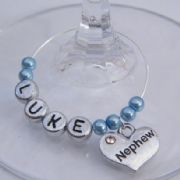 Nephew Personalised Wine Glass Charm